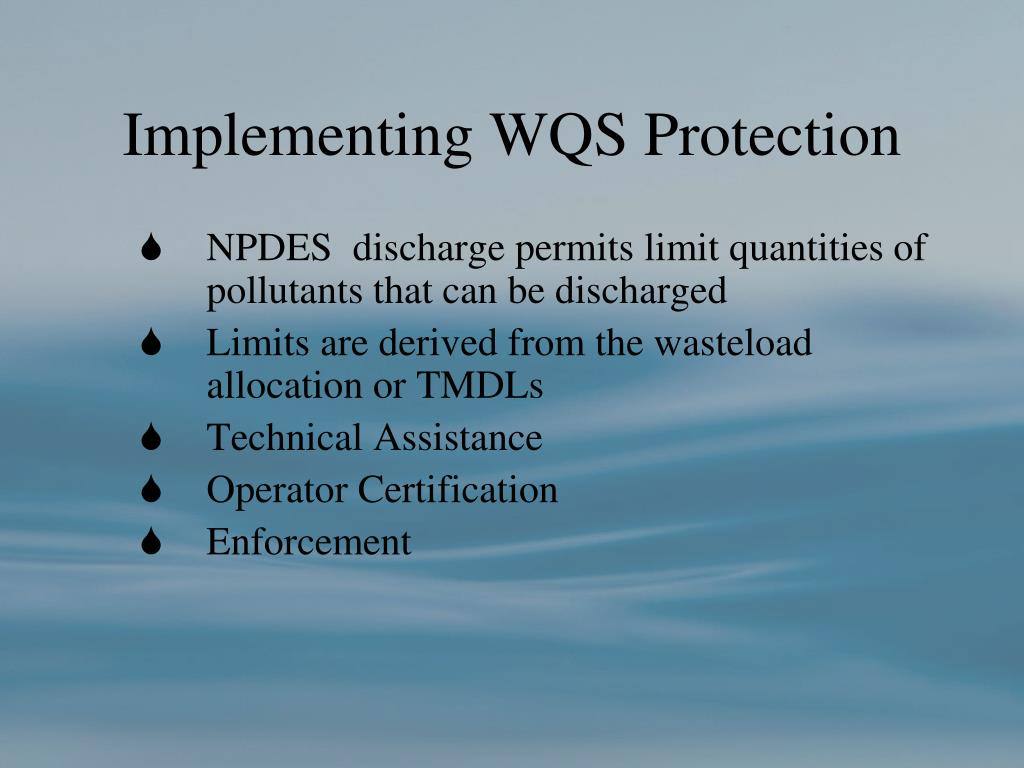 Implementing WQS Protection