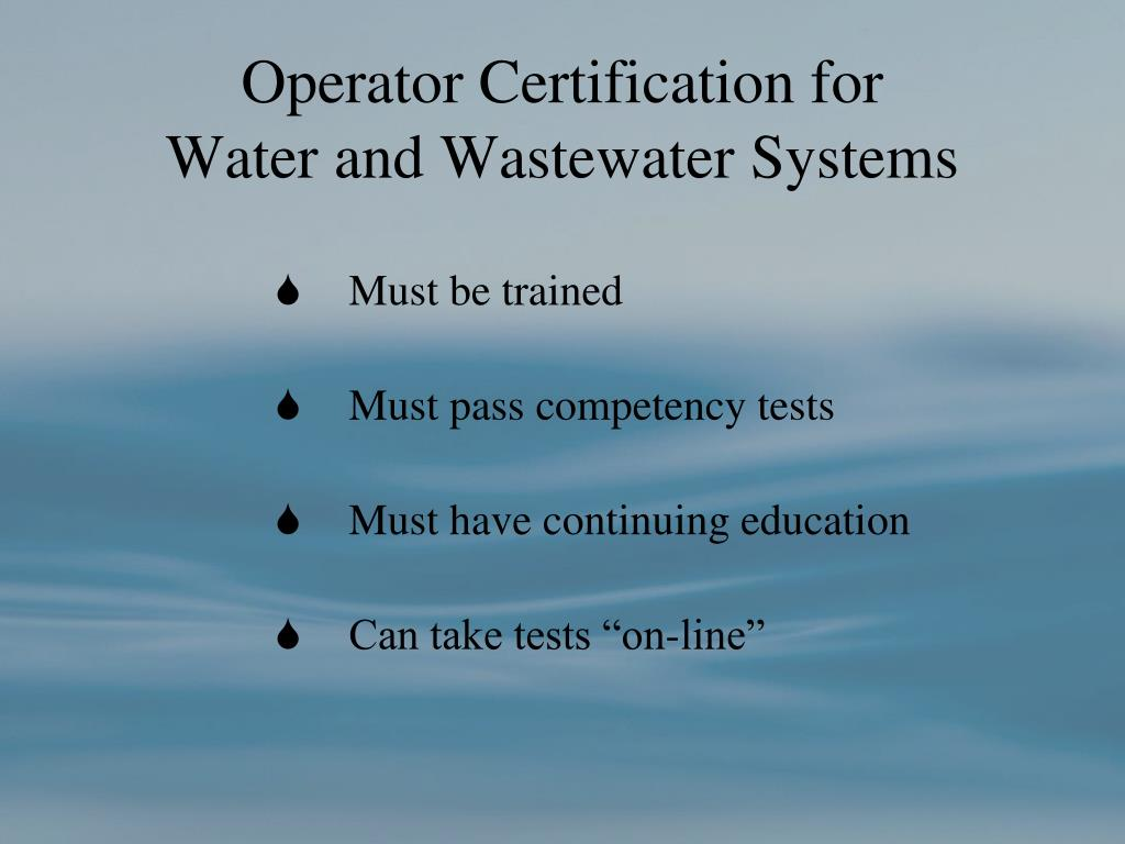 Operator Certification for