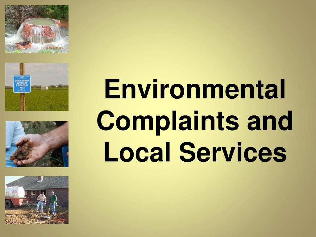 Environmental Complaints and Local Services