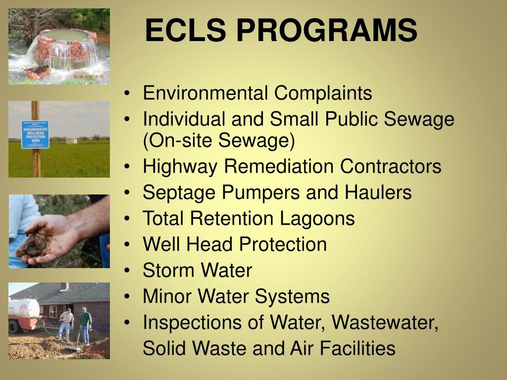 ECLS PROGRAMS
