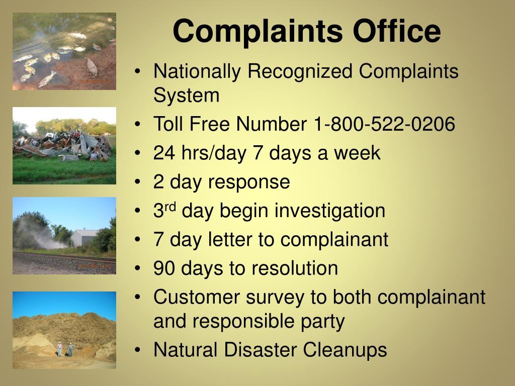 Complaints Office
