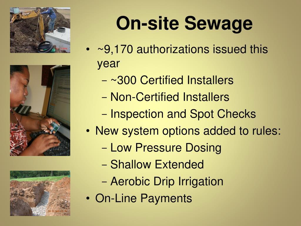 On-site Sewage