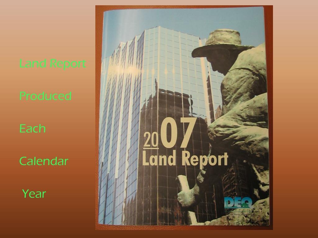 Land Report
