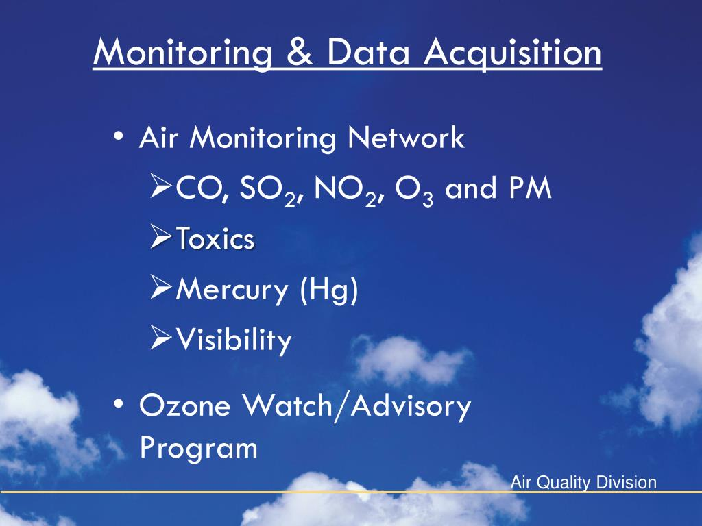 Monitoring & Data Acquisition