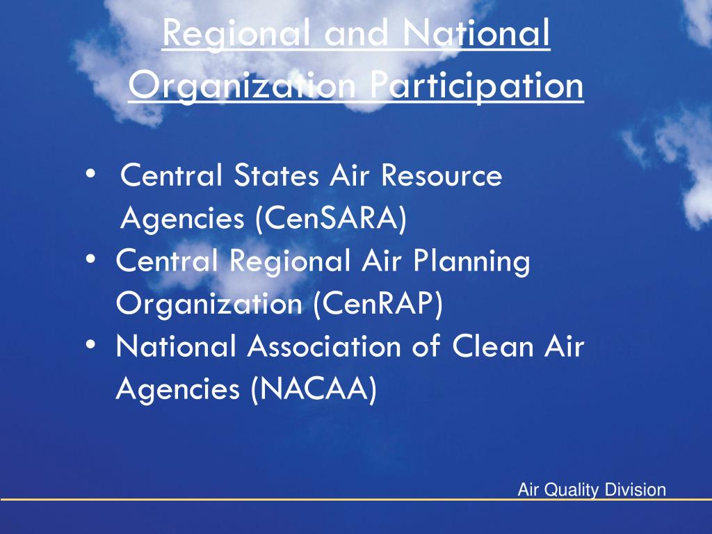 Regional and National Organization Participation