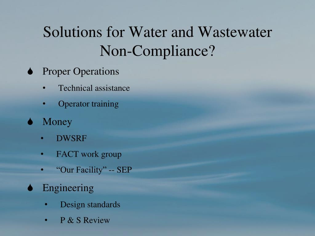 Solutions for Water and Wastewater Non-Compliance?