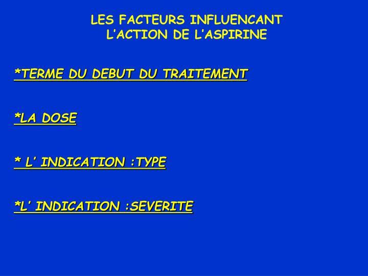 LES FACTEURS INFLUENCANT