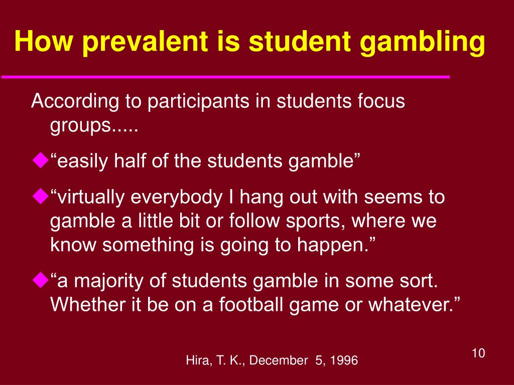 How prevalent is student gambling