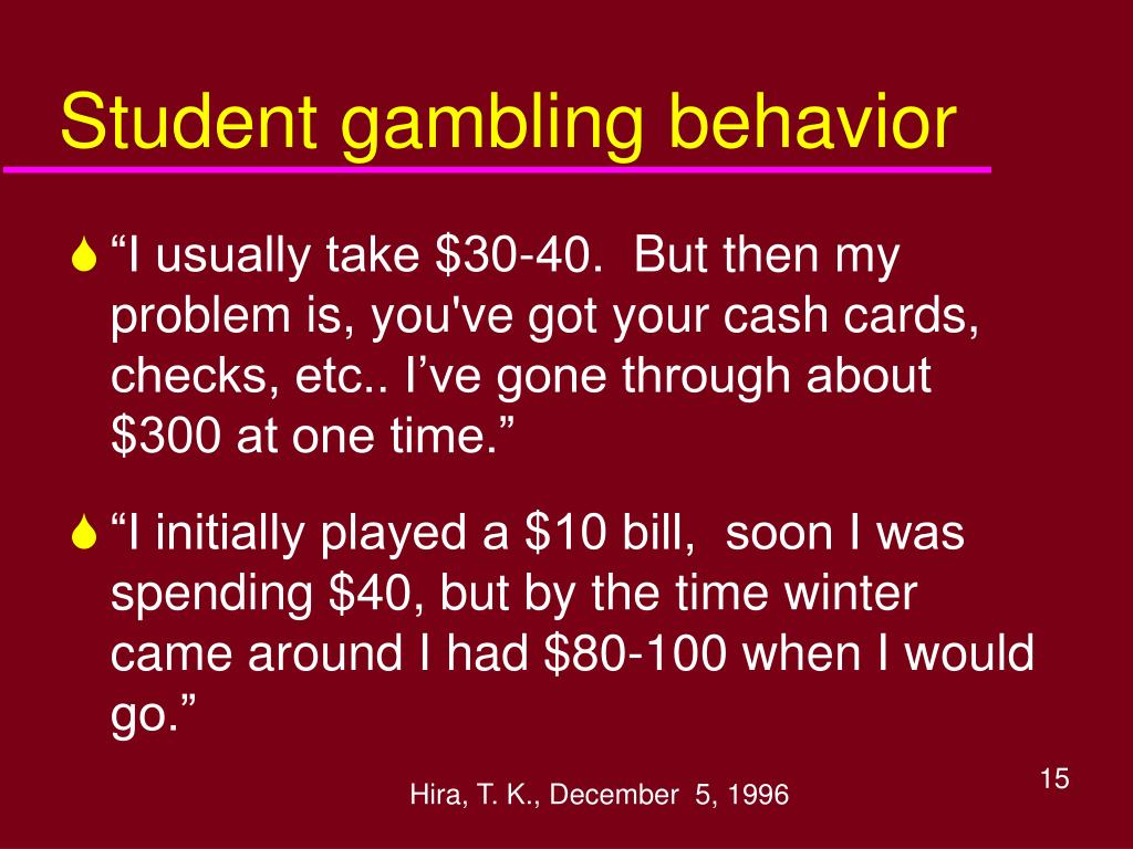 Student gambling behavior