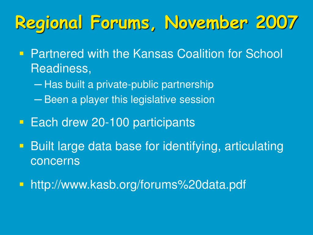 Regional Forums, November 2007