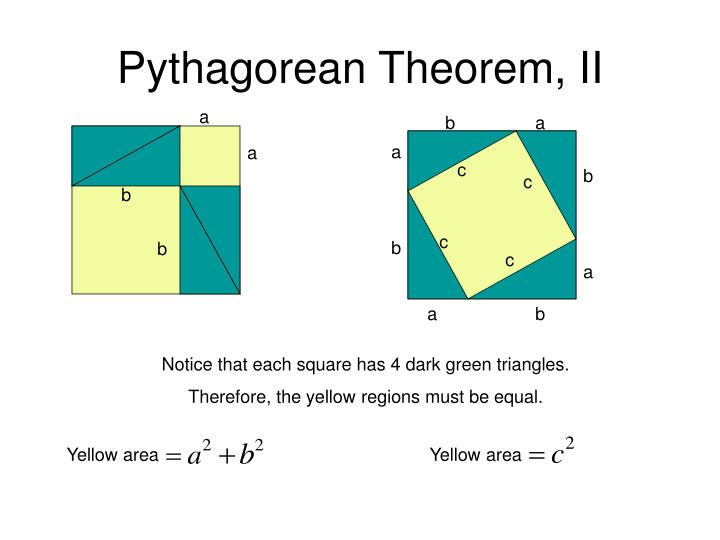 Pythagorean Theorem, II