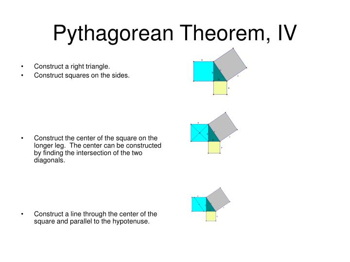 Pythagorean Theorem, IV