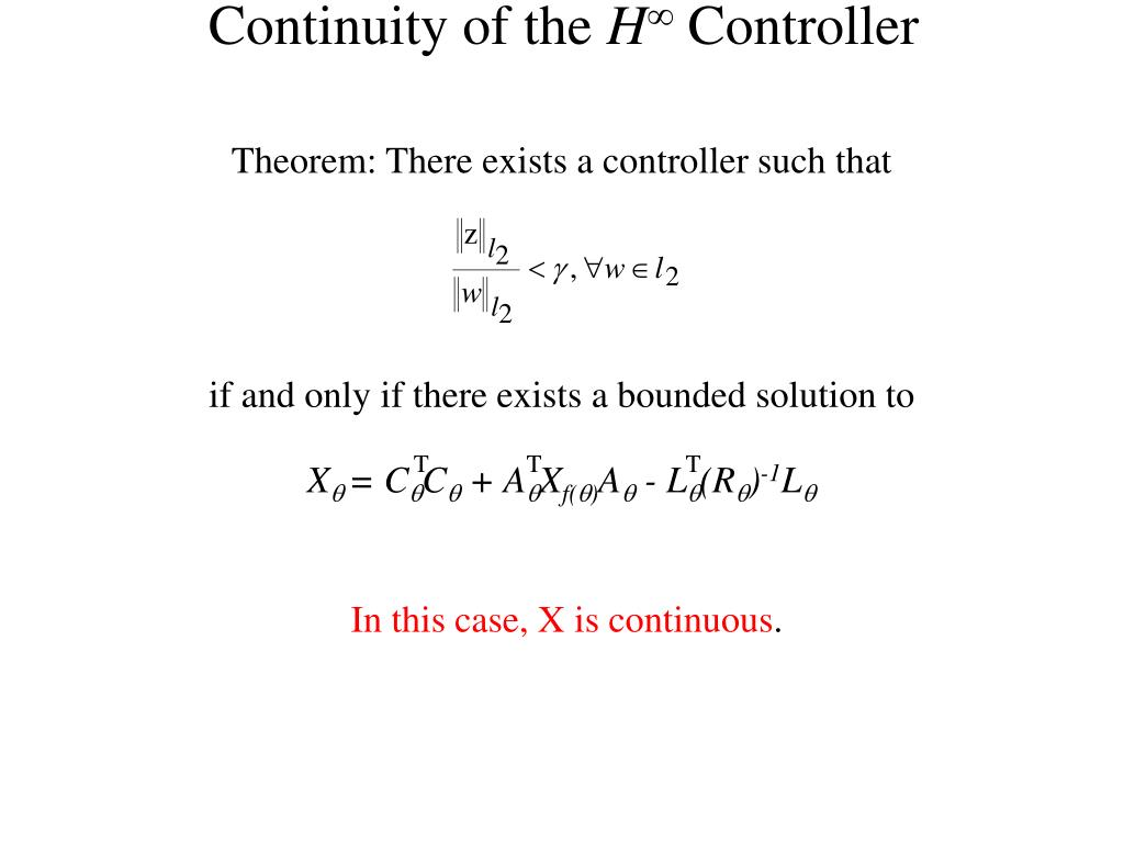 Continuity of the
