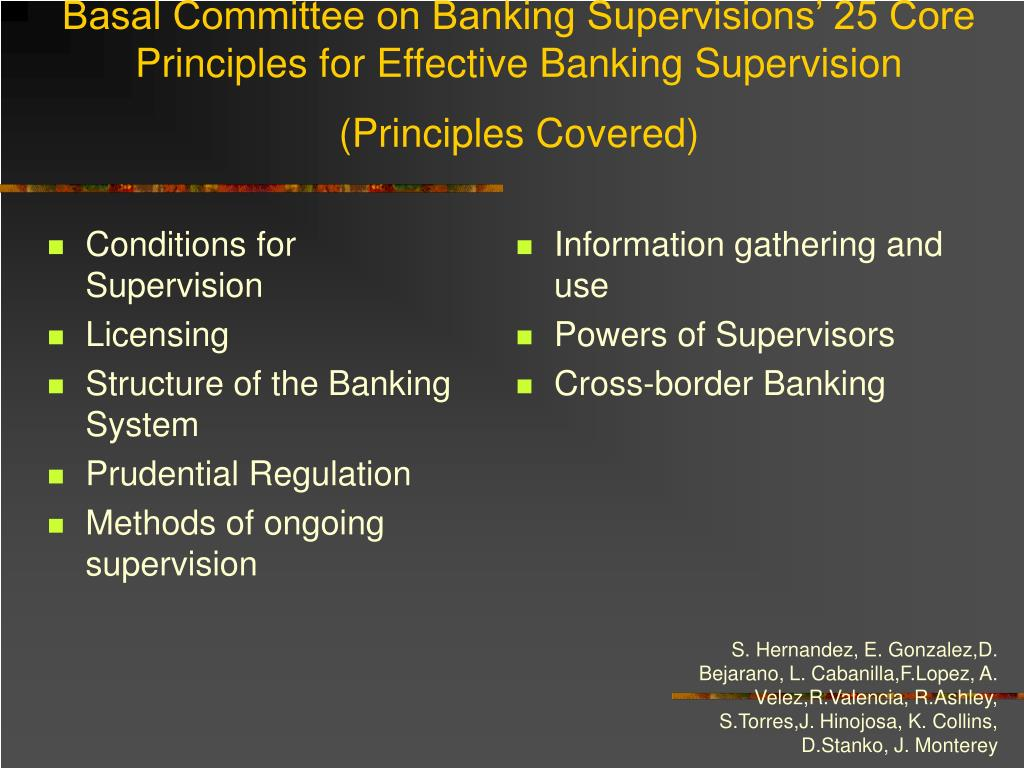 Conditions for Supervision