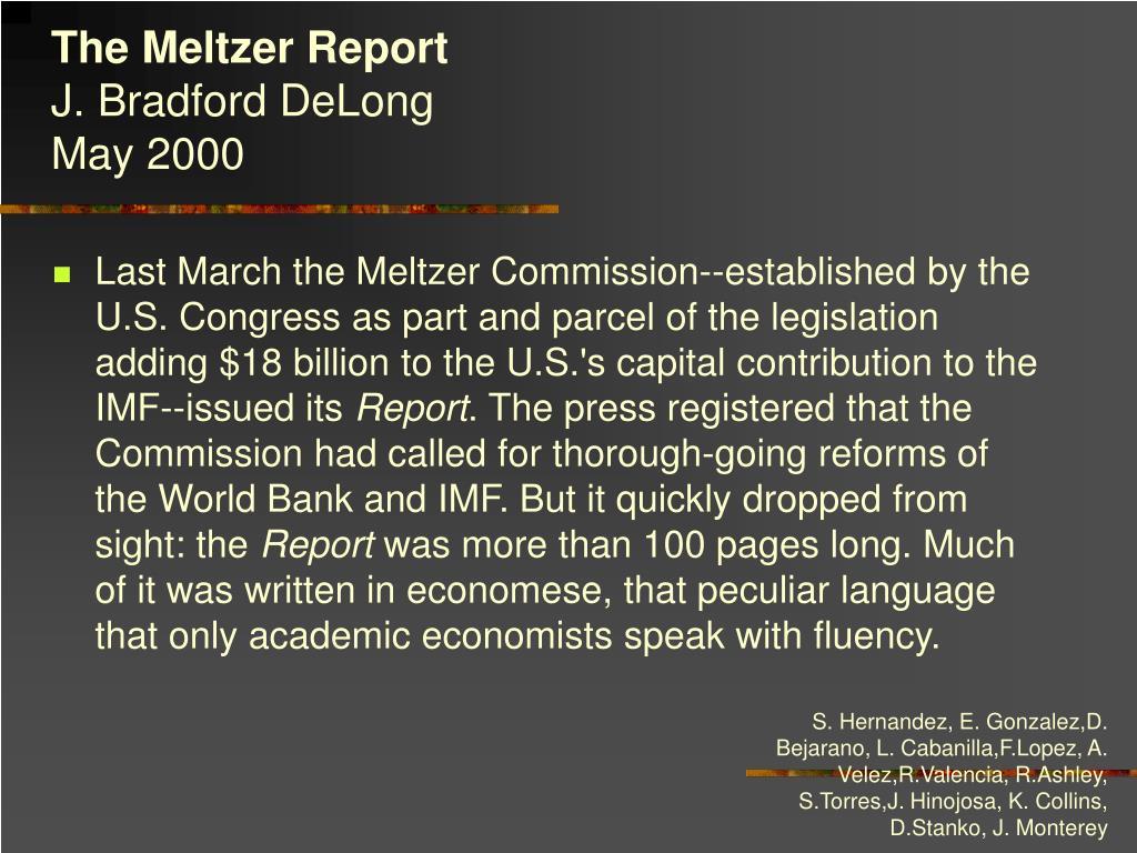 The Meltzer Report