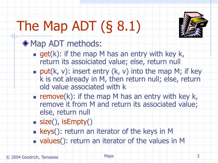 The map adt 8 1