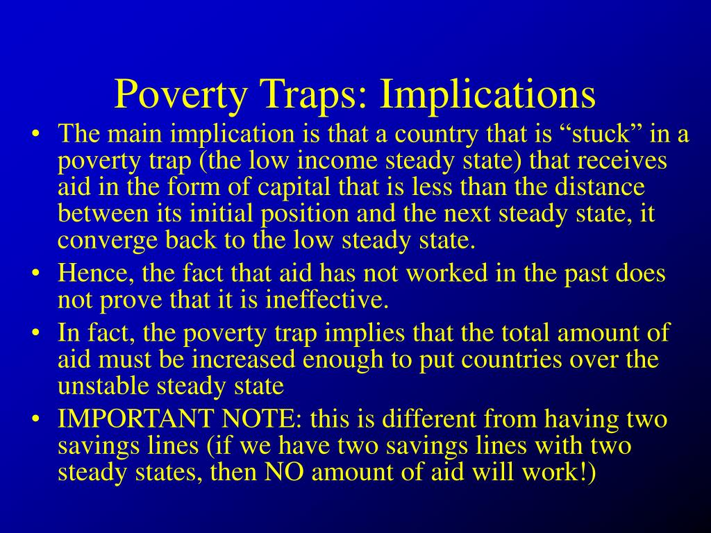Poverty Traps: Implications