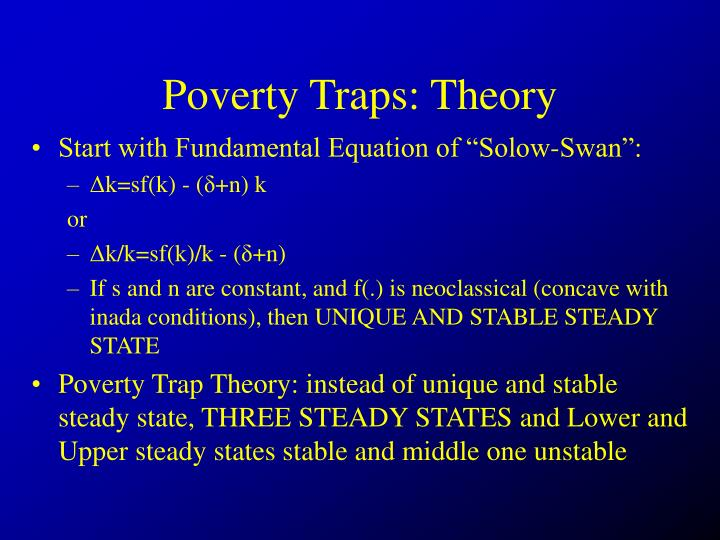 Poverty traps theory