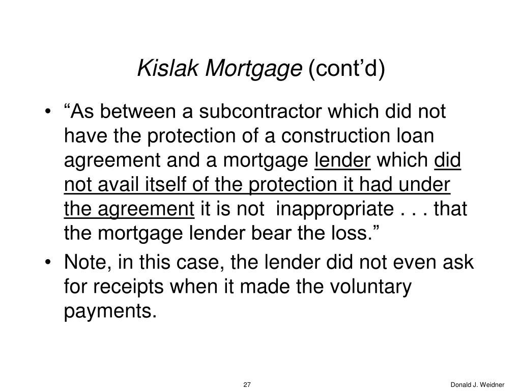 Kislak Mortgage