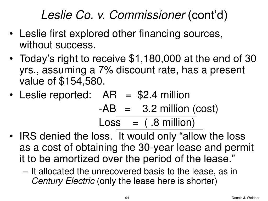 Leslie Co. v. Commissioner