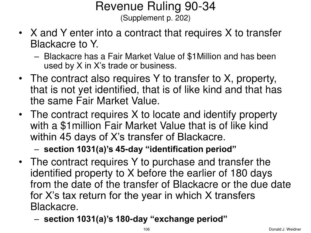 Revenue Ruling 90-34