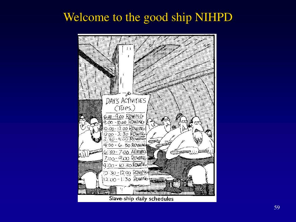 Welcome to the good ship NIHPD