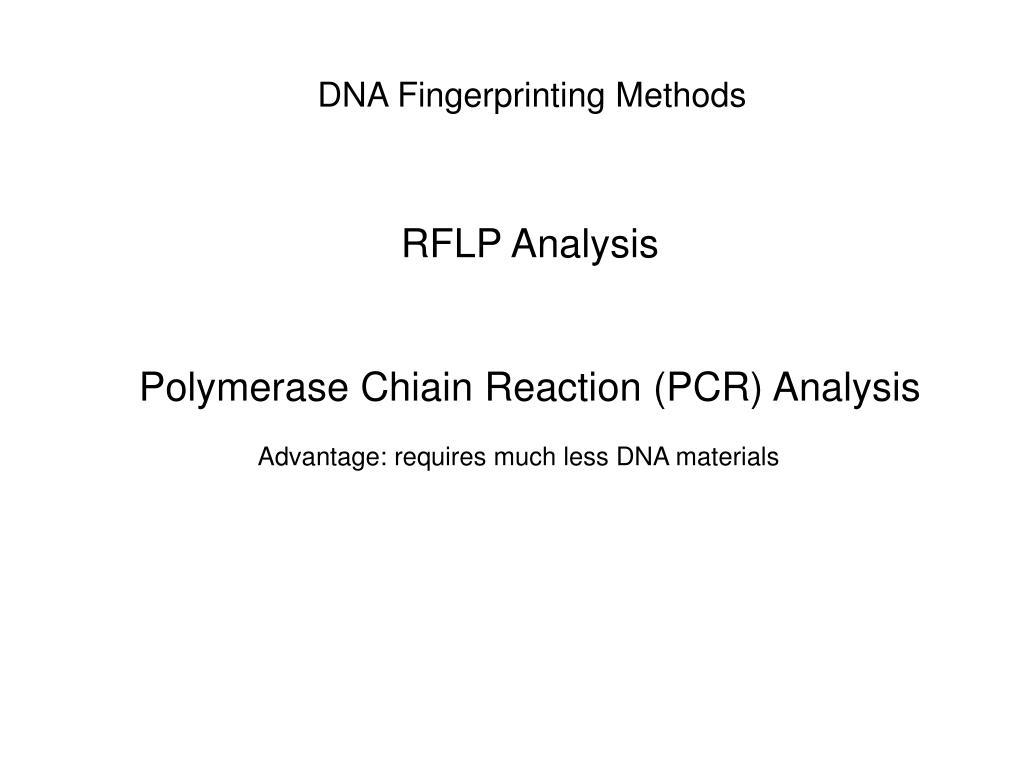 DNA Fingerprinting Methods
