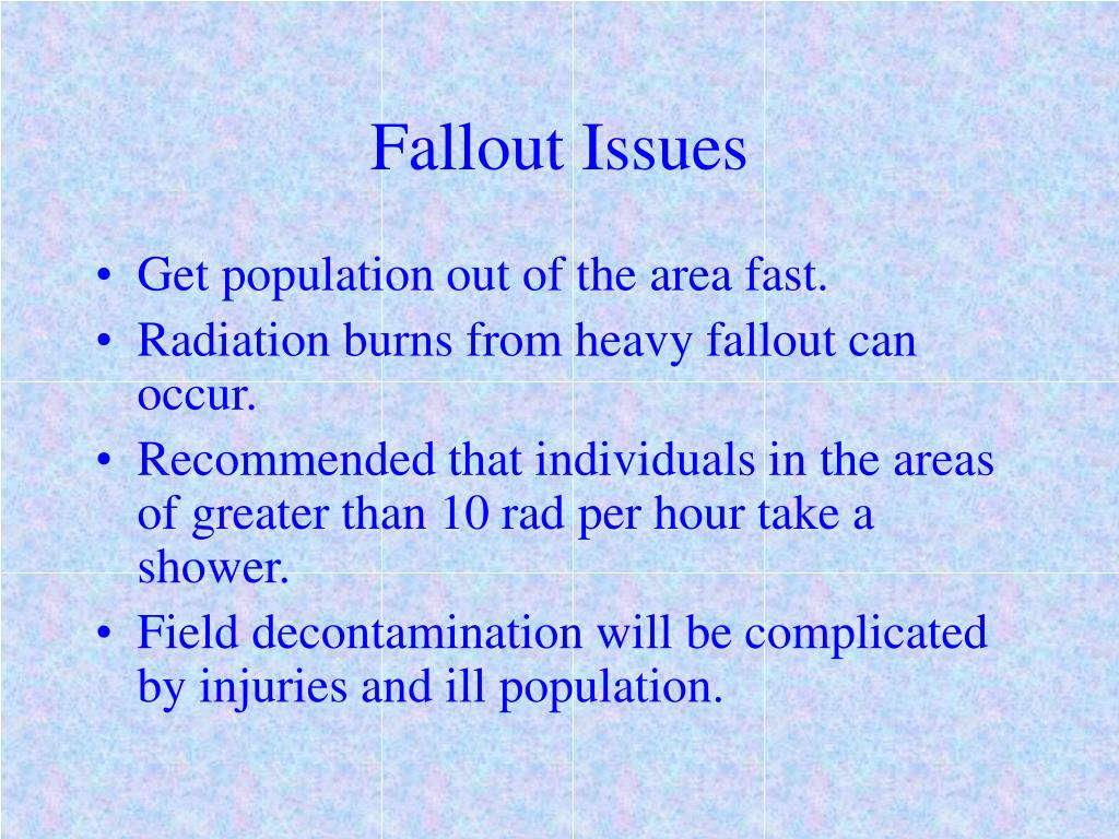 Fallout Issues