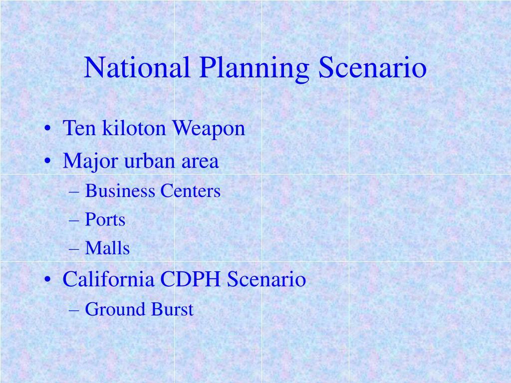 National Planning Scenario