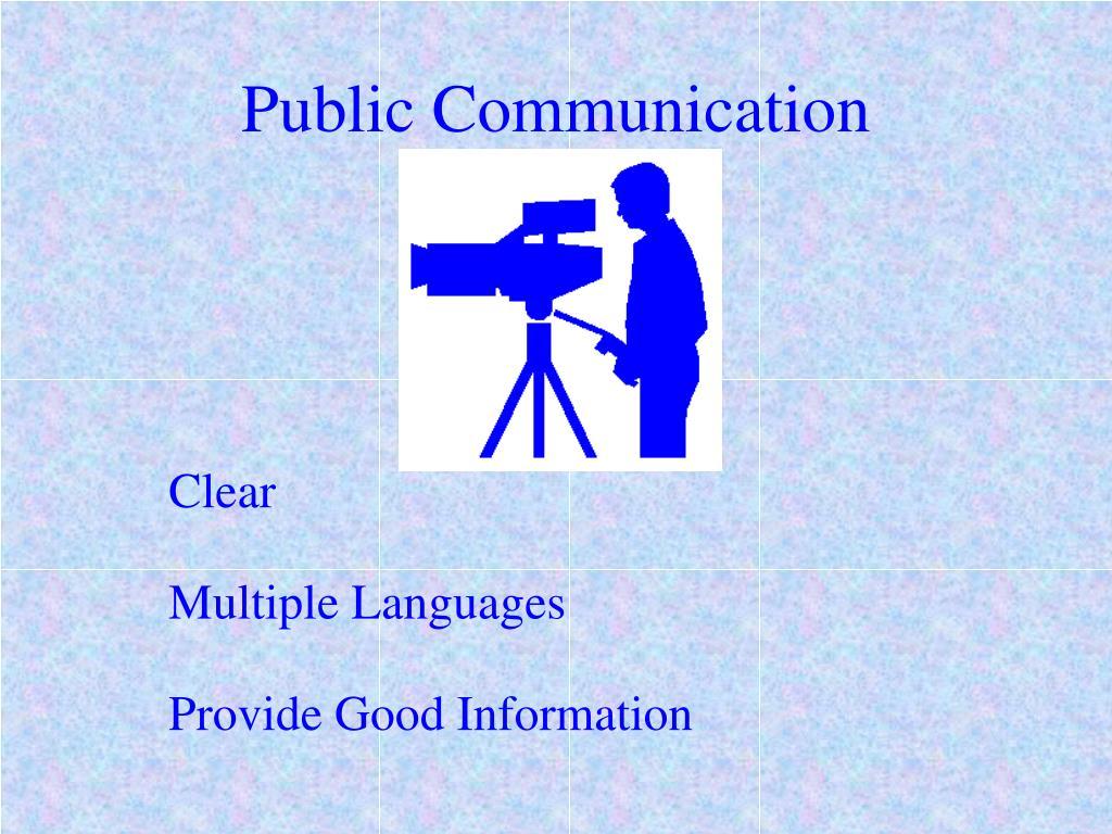 Public Communication