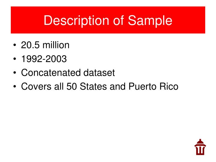 Description of Sample