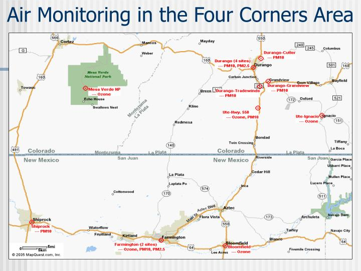 Air Monitoring in the Four Corners Area