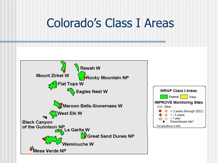 Colorado's Class I Areas