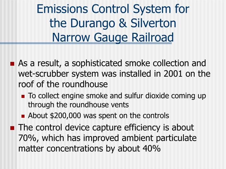 Emissions Control System for