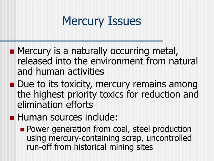 Mercury Issues