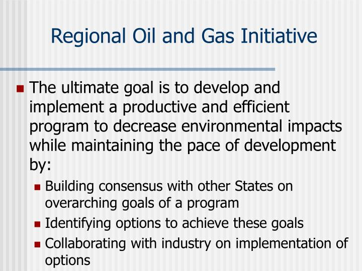 Regional Oil and Gas Initiative