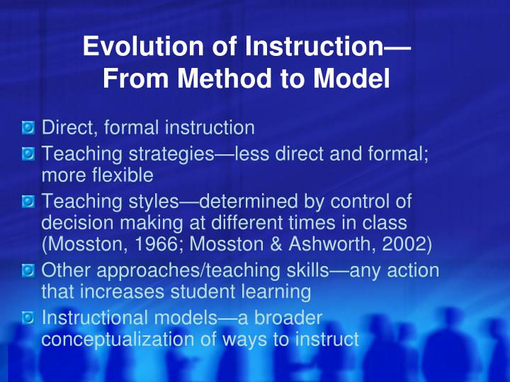 Evolution of Instruction