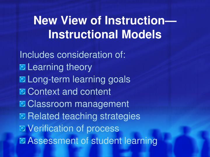New View of Instruction