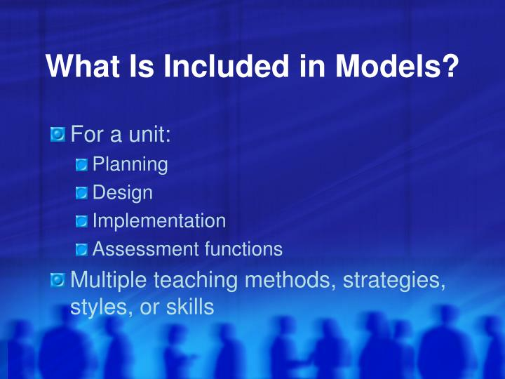 What Is Included in Models?