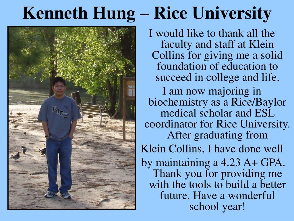 Kenneth Hung – Rice University