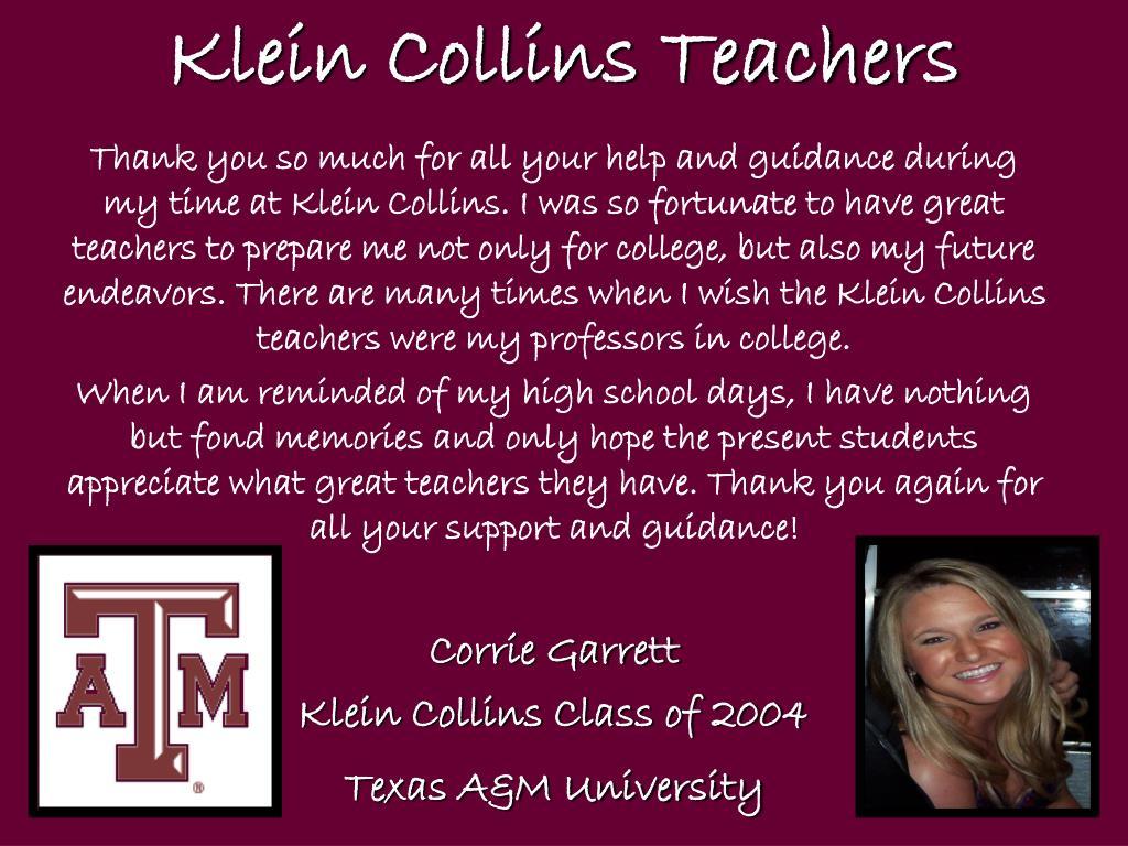 Klein Collins Teachers
