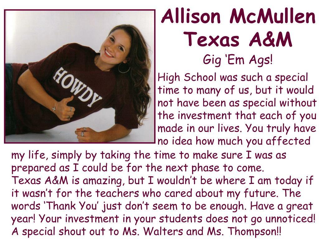 Allison McMullen Texas A&M