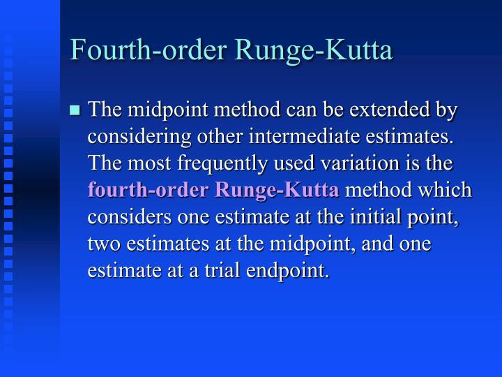 Fourth-order Runge-Kutta