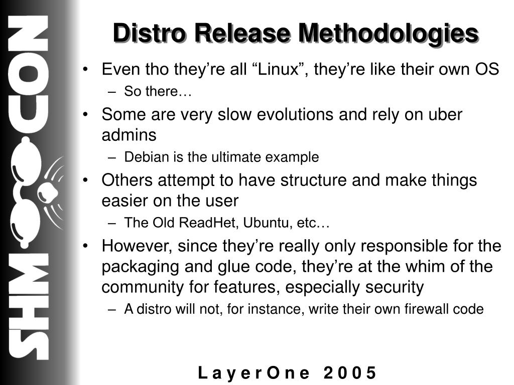 Distro Release Methodologies