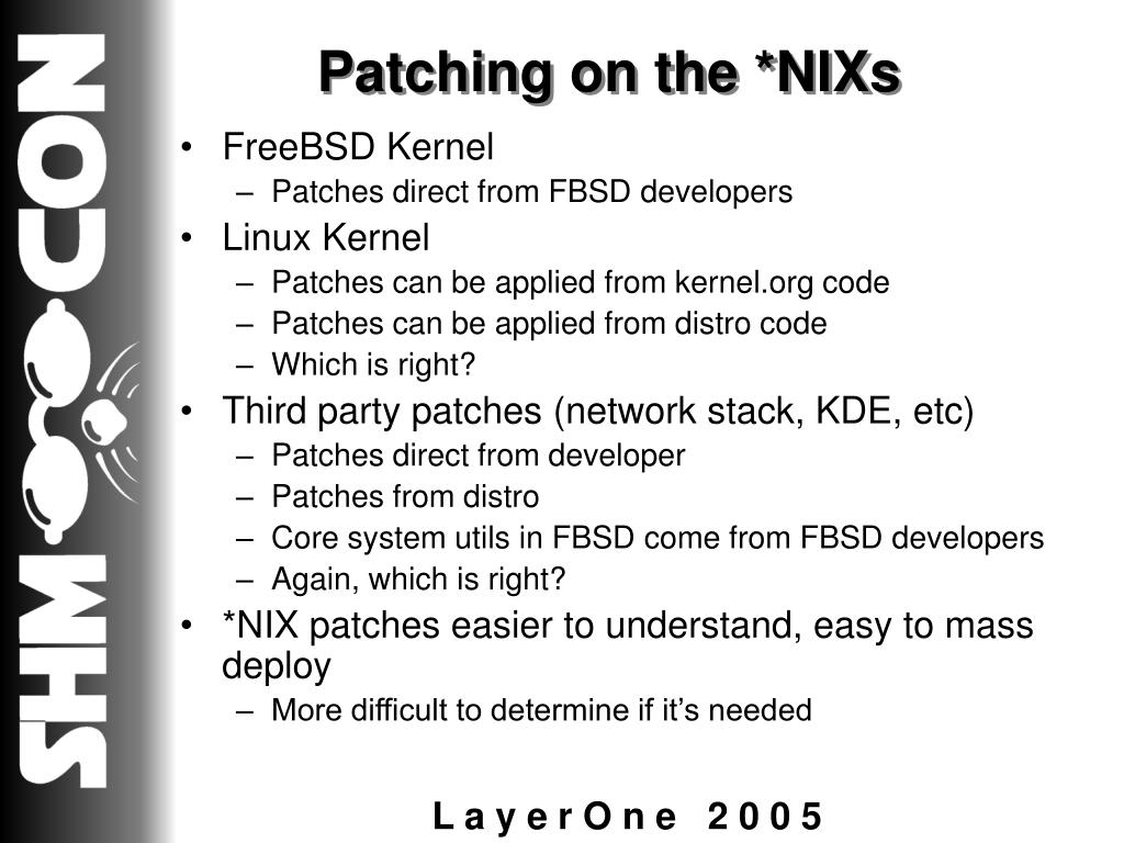 Patching on the *NIXs