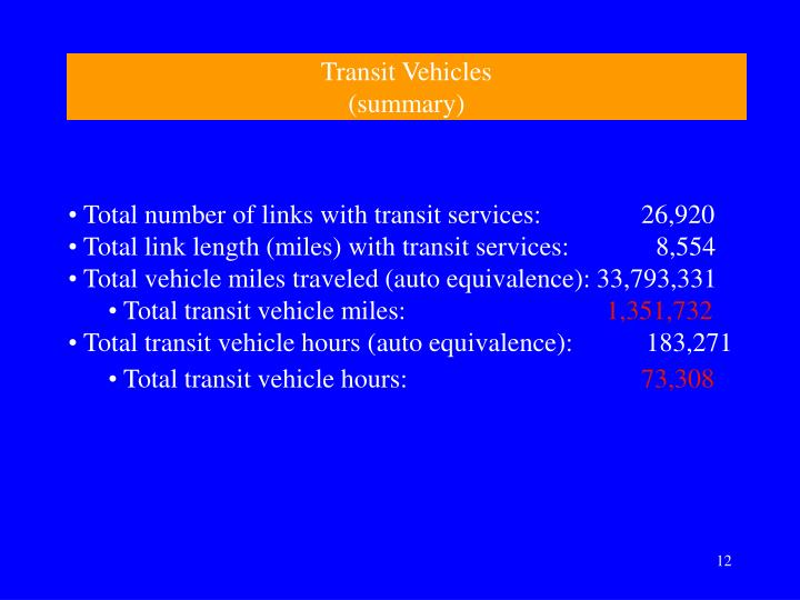 Transit Vehicles