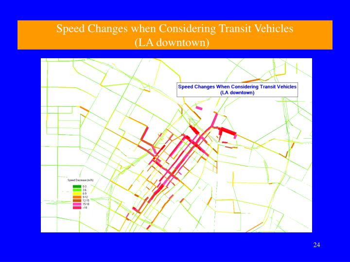 Speed Changes when Considering Transit Vehicles
