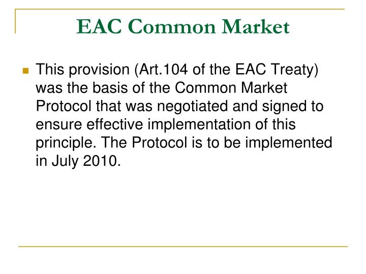 EAC Common Market