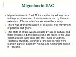 migration in eac