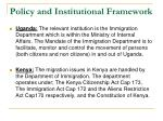 policy and institutional framework1